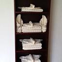 Ręczniki i pościel w domku