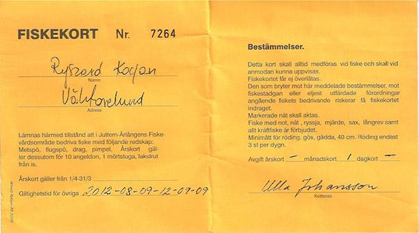 Szwedzka karta wędkarska