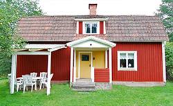 Domek czerwony w Szwecji w 2008 roku