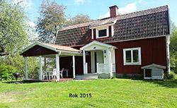 Domek czerwony w Szwecji w 2015 roku