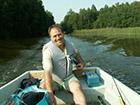 Przejażdzka łódką po jeziorze