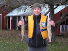 Ryby szczupaki złowione w Szwecji